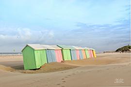 Les cabines de plage à Berck 2020